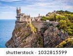castle swallow's nest on a rock ... | Shutterstock . vector #1032815599