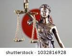 symbol of law and justice with... | Shutterstock . vector #1032816928