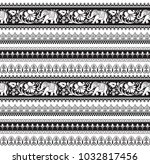 seamless black and white... | Shutterstock .eps vector #1032817456