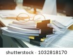 glasses placed on unfinished... | Shutterstock . vector #1032818170