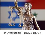 symbol of law and justice with... | Shutterstock . vector #1032818734