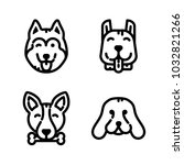 dogs icon set | Shutterstock .eps vector #1032821266