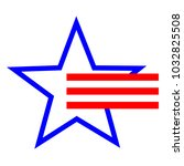 american star symbol and stripes | Shutterstock .eps vector #1032825508