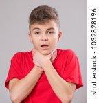 emotional portrait of caucasian ... | Shutterstock . vector #1032828196