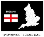 map and national flag of... | Shutterstock .eps vector #1032831658