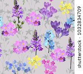trendy floral pattern in the... | Shutterstock .eps vector #1032834709