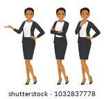 business woman set   Shutterstock .eps vector #1032837778
