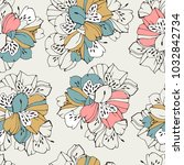 tropic seamless pattern with... | Shutterstock .eps vector #1032842734