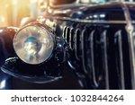 closeup of a vintage blue car...   Shutterstock . vector #1032844264
