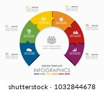 infographic template. vector... | Shutterstock .eps vector #1032844678