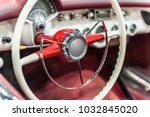 closeup on a wheel of a vintage ...   Shutterstock . vector #1032845020