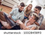 young friends having a great...   Shutterstock . vector #1032845893