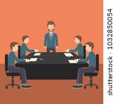 business meeting  presentation... | Shutterstock .eps vector #1032850054