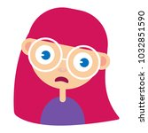 teen girl face  upset  confused ...   Shutterstock .eps vector #1032851590