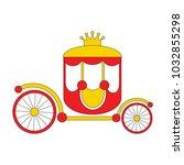 gold chariot cartoon  the... | Shutterstock .eps vector #1032855298