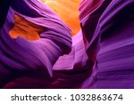 colorful antelope canyon ... | Shutterstock . vector #1032863674