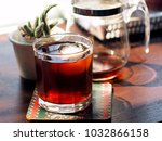 iced drip coffee  single origin ... | Shutterstock . vector #1032866158