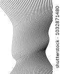 white black color. linear... | Shutterstock .eps vector #1032871480