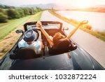 couple in love ride in... | Shutterstock . vector #1032872224
