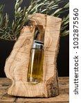 virgin olive oil glass jar in... | Shutterstock . vector #1032875560