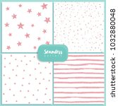 set of vector seamless patterns ... | Shutterstock .eps vector #1032880048