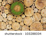 stacked logs with recycle... | Shutterstock . vector #103288334