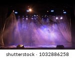 scene  stage light with colored ... | Shutterstock . vector #1032886258