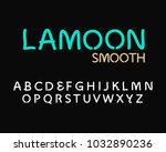 smooth font and alphabet ... | Shutterstock .eps vector #1032890236