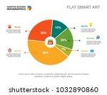 financial pie chart slide... | Shutterstock .eps vector #1032890860