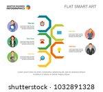 five employees workflow slide... | Shutterstock .eps vector #1032891328
