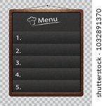 black menu boards isolated on... | Shutterstock .eps vector #1032891370