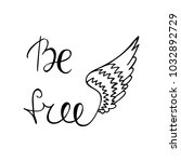 be free inspirational quote.... | Shutterstock .eps vector #1032892729