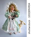 vintage porcelain doll with... | Shutterstock . vector #1032894904