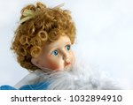 closeup face of vintage... | Shutterstock . vector #1032894910
