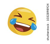 emoji laughing out loud.... | Shutterstock .eps vector #1032898924