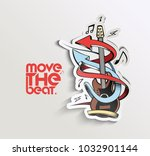 move the beat with arrow and... | Shutterstock .eps vector #1032901144