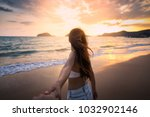 summer woman vacations concept  ... | Shutterstock . vector #1032902146