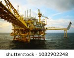 offshore construction platform... | Shutterstock . vector #1032902248