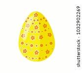 easter beautiful egg sticker.... | Shutterstock .eps vector #1032902269
