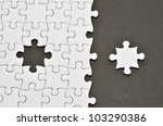 plain white jigsaw puzzle  on... | Shutterstock . vector #103290386