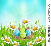 easter card. painted easter...   Shutterstock . vector #1032904300