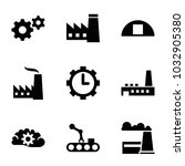 factory icons. set of 9... | Shutterstock .eps vector #1032905380