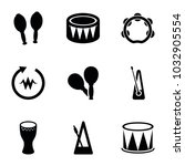 rhythm icons. set of 9 editable ... | Shutterstock .eps vector #1032905554