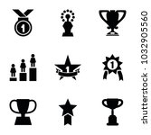 victory icons. set of 9... | Shutterstock .eps vector #1032905560