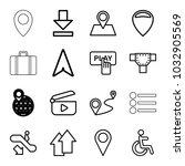 navigation icons. set of 16...   Shutterstock .eps vector #1032905569