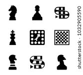 chess icons. set of 9 editable... | Shutterstock .eps vector #1032905590