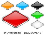 glass buttons with chrome frame.... | Shutterstock .eps vector #1032909643