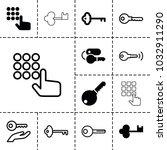 unlock icons. set of 13...   Shutterstock .eps vector #1032911290