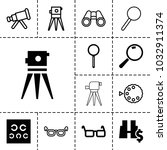 optical icons. set of 13... | Shutterstock .eps vector #1032911374