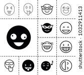 laugh icons. set of 13 editable ... | Shutterstock .eps vector #1032911413
